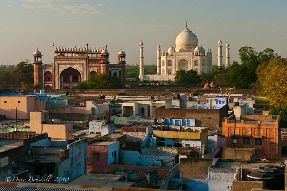 A Rooftop View of the Taj Mahal