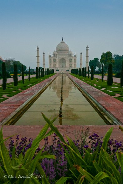 empty grounds of the Taj Mahal in india