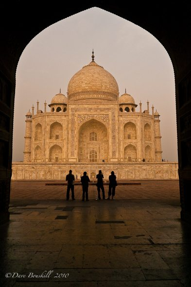 sunrise at taj mahal in Agra