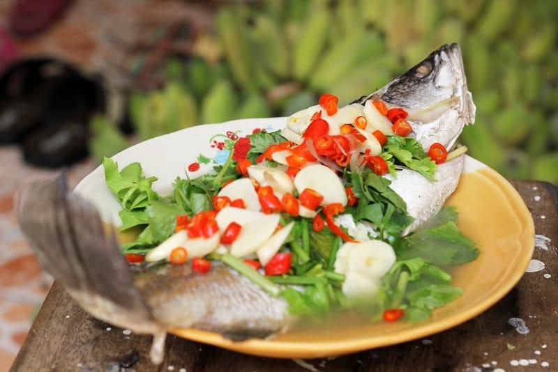 Thai food - Pla Kapong Neung Manao