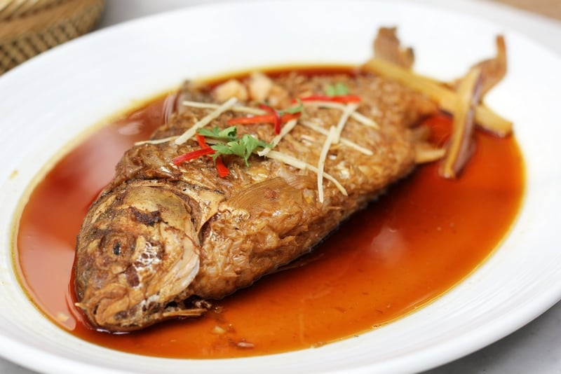 traditional fish dishes in Thailand - Pla Ta Pien Tom Kem