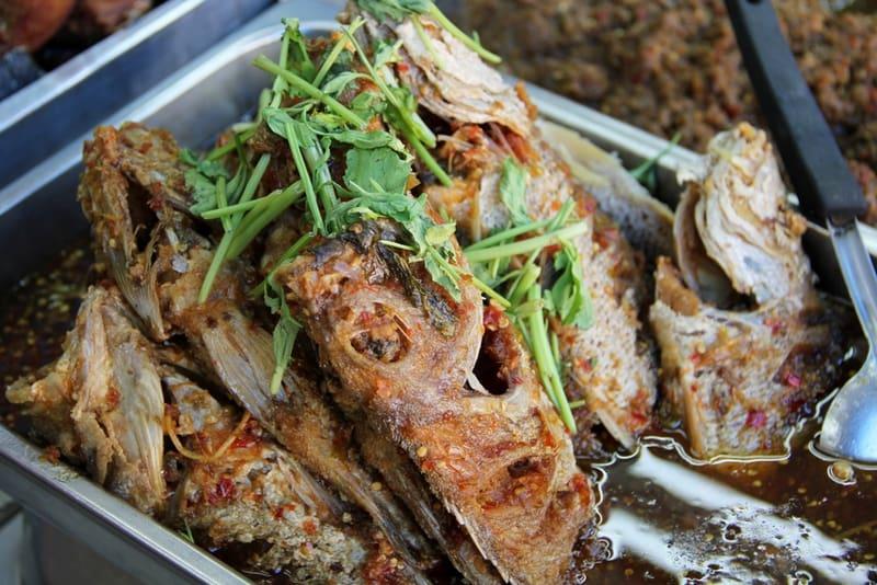 Thai cuisine - Pla Tod Rad Prik