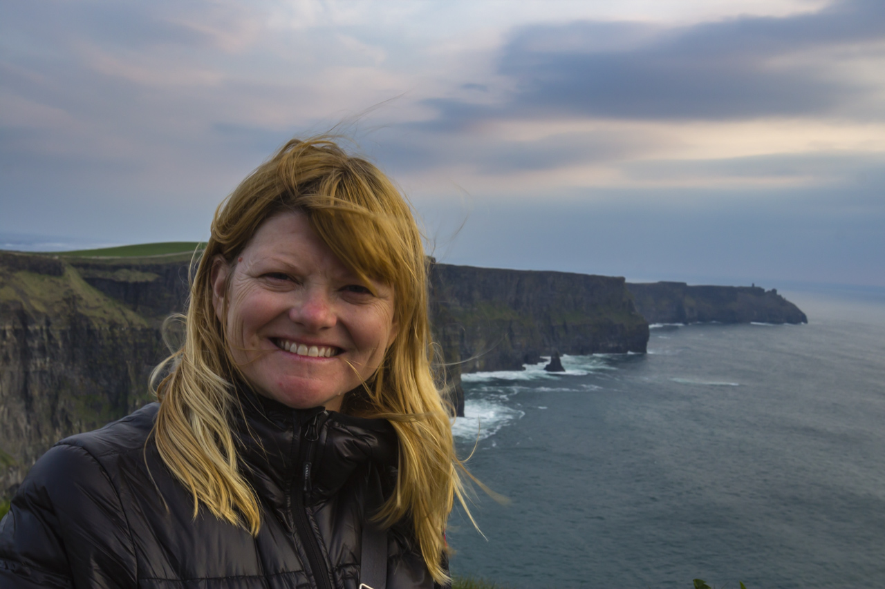 The Cliffs of Moher with Deb