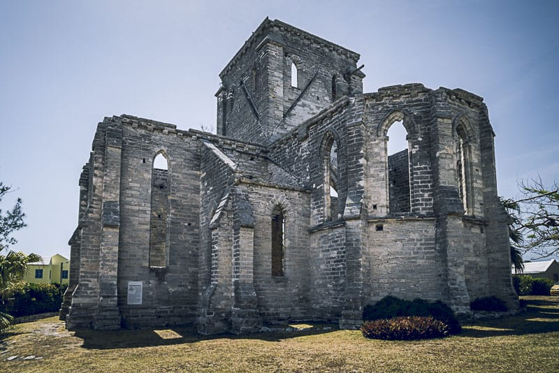 Tour the unfinished Church of Saint George, Bermuda