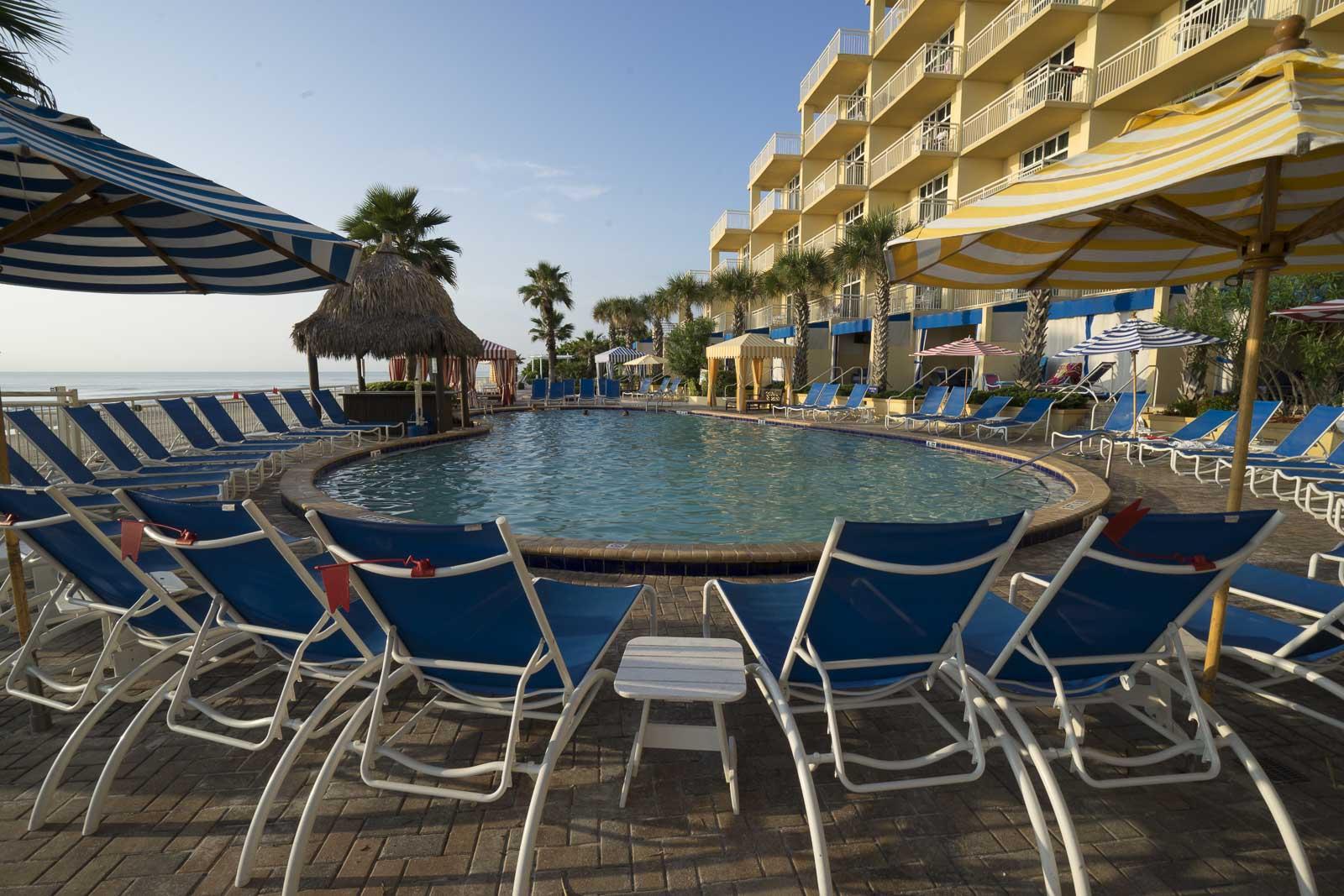 Daytona Beach Shores Hotel poolside