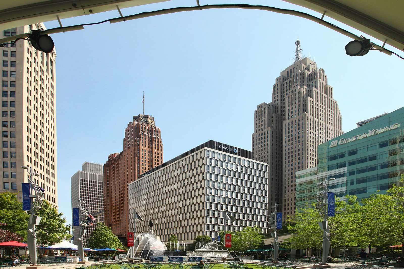 Campus Martius Park  in Detroit Michigan