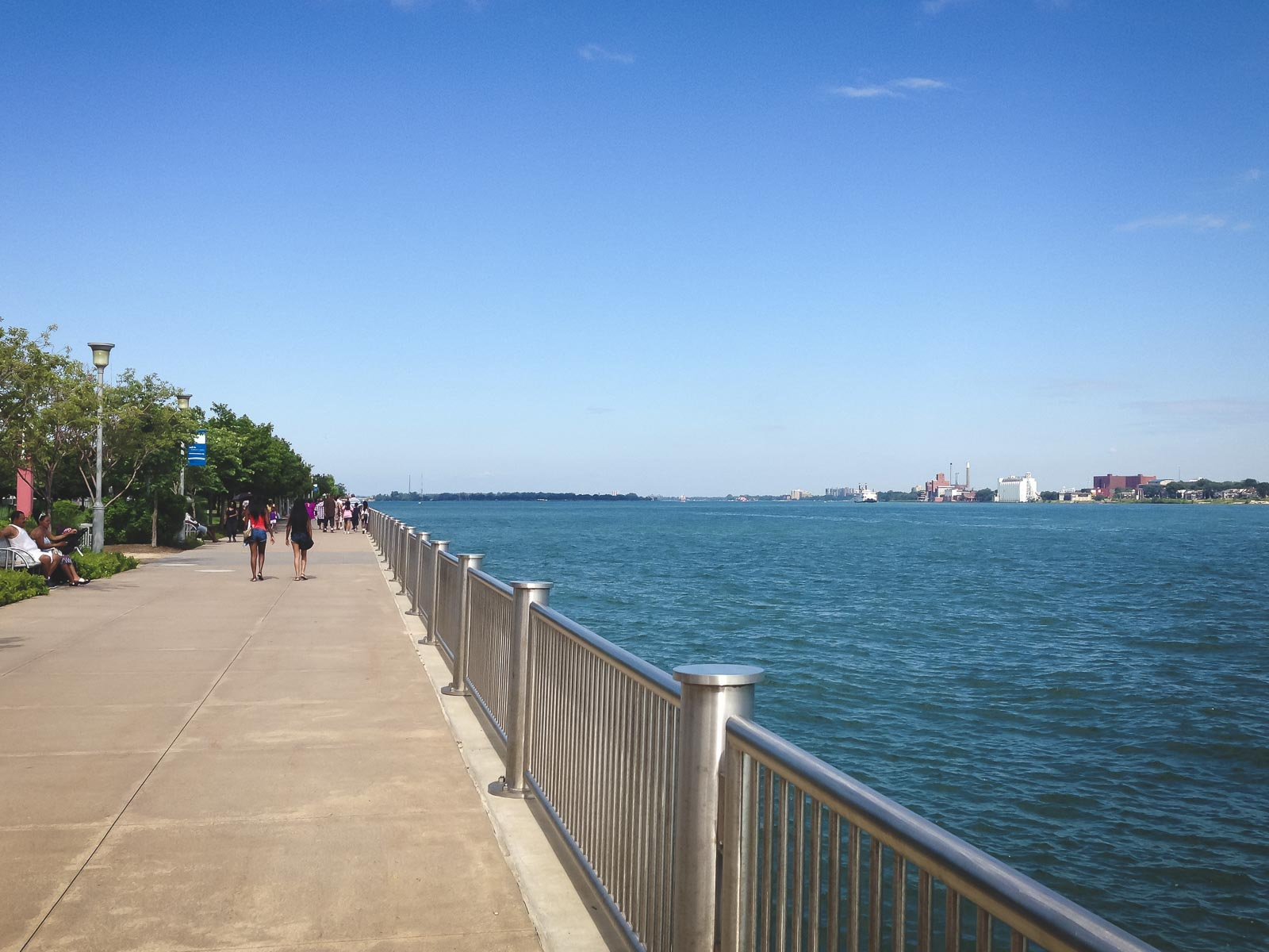 Looking out towards Belle Isle Park