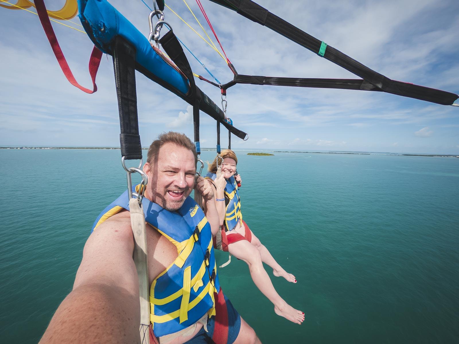 parasailling at florida keys