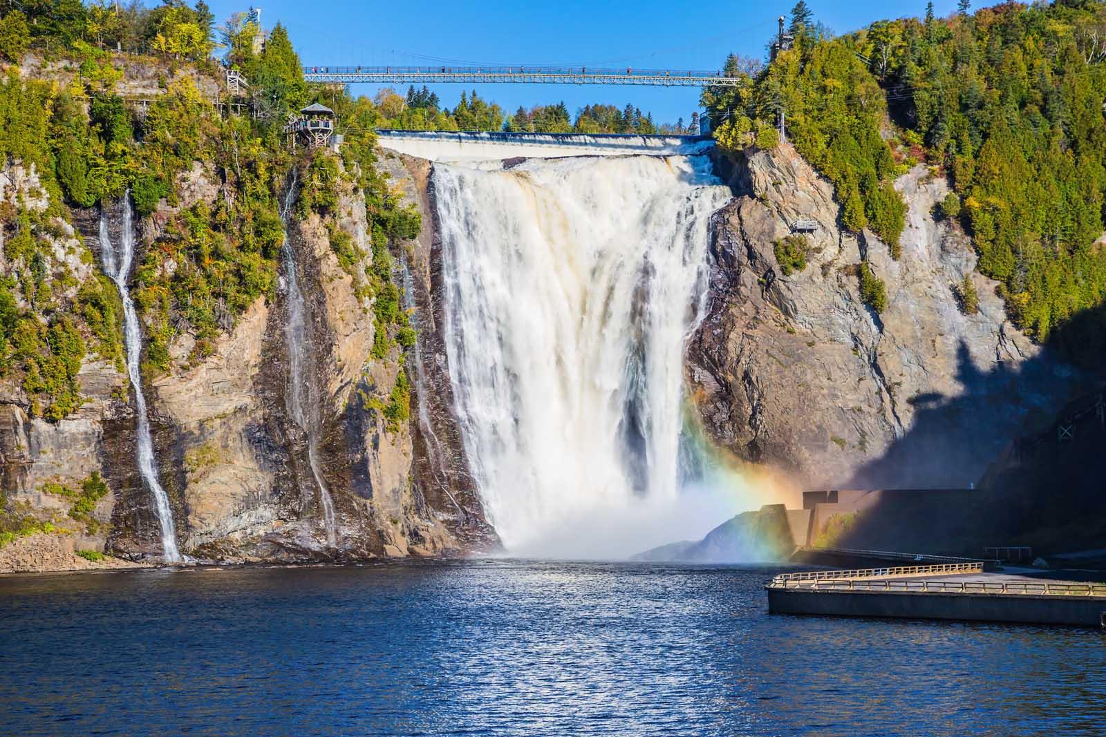 Montmorency Falls near Quebec City Summer