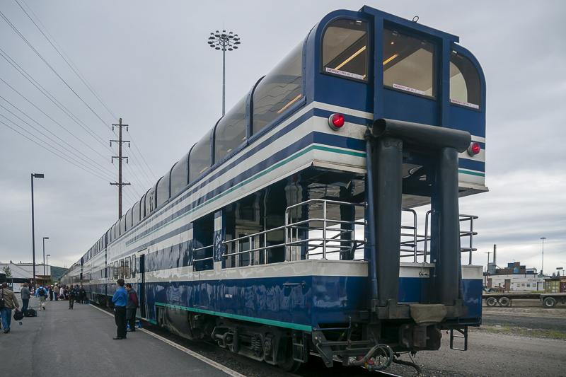 Take the dome train in Alaska