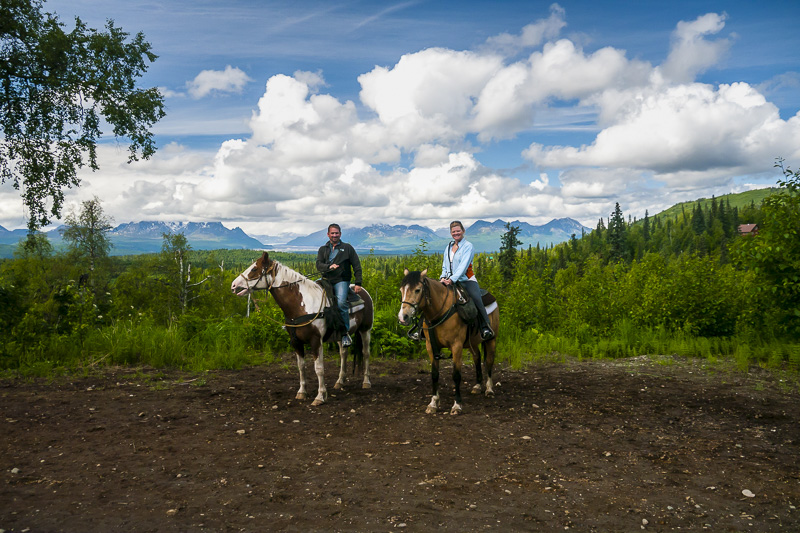 Horseback riding in Alaska