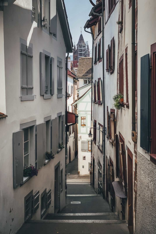 Walk the Alt Stadt in Basel Switzerland
