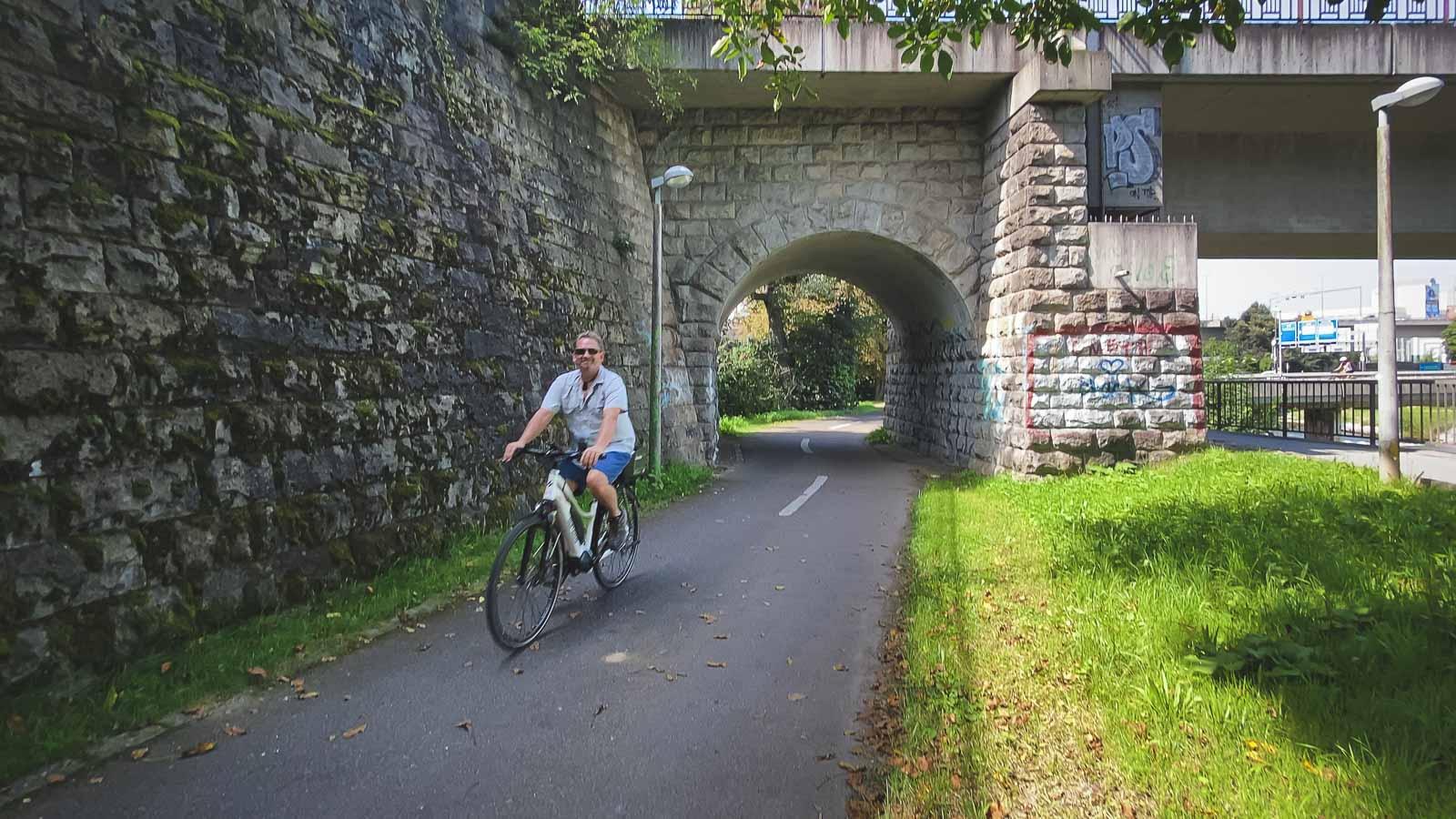 Cycling the Rehberger Weg in Basel