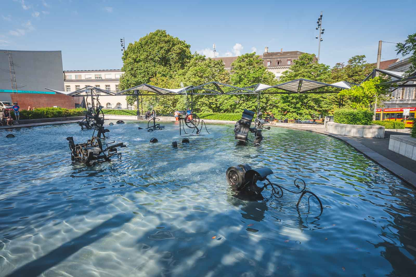 Tinguely Fountain in Basel Switzerland