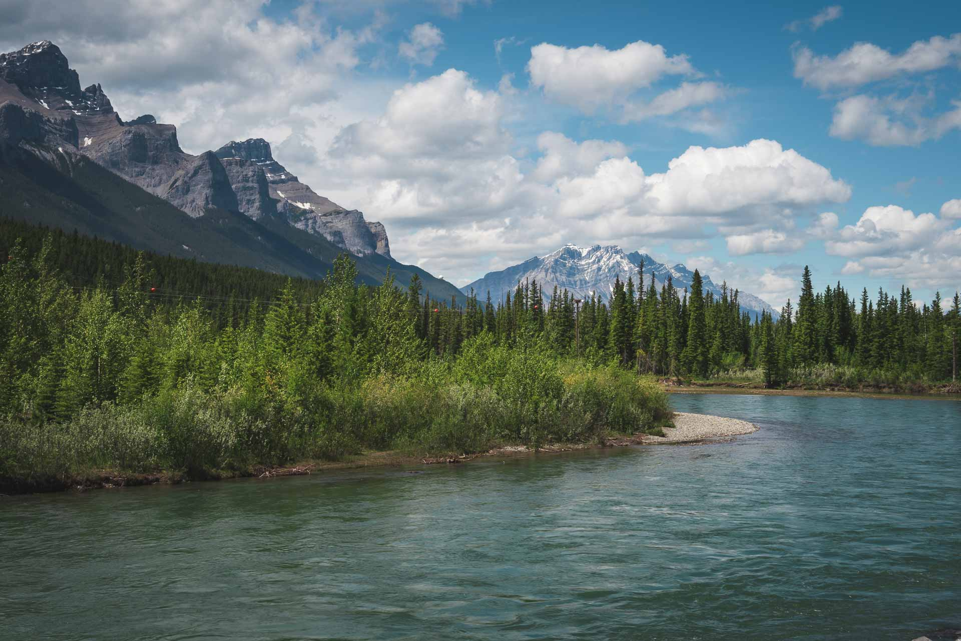 bow river view canmore alberta