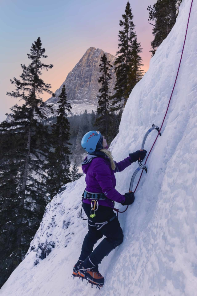 Ice Climbing in Canmore