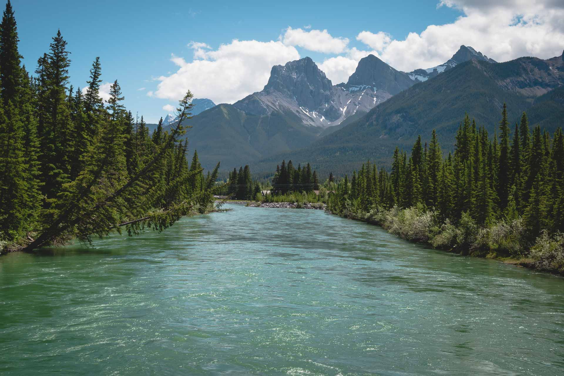 three sisters and bow river