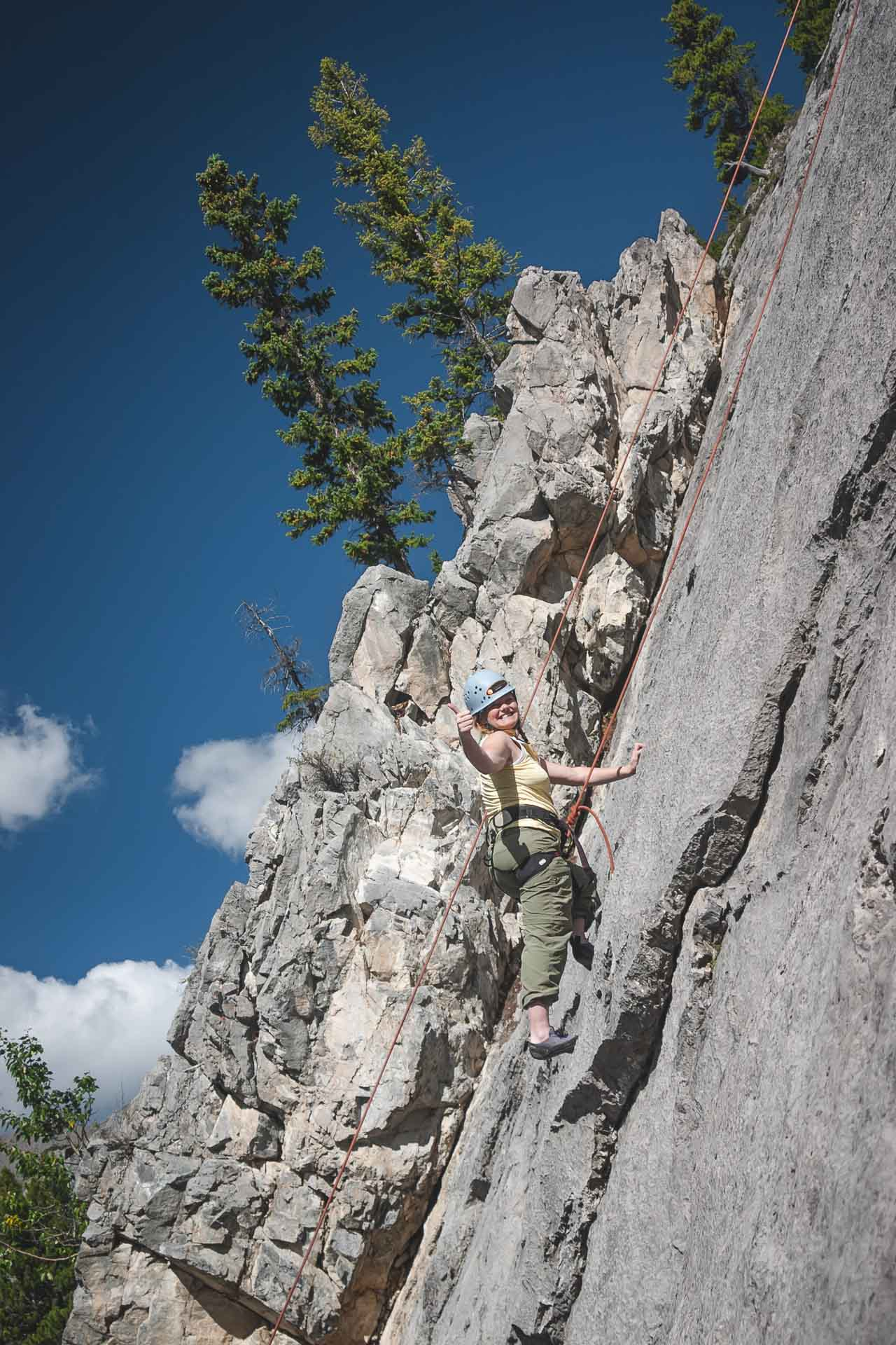 climbing in Canmore