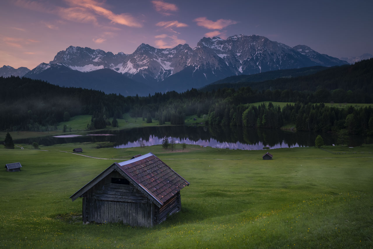 Sunrise at Geroldsee near Garmisch Partenkirchen