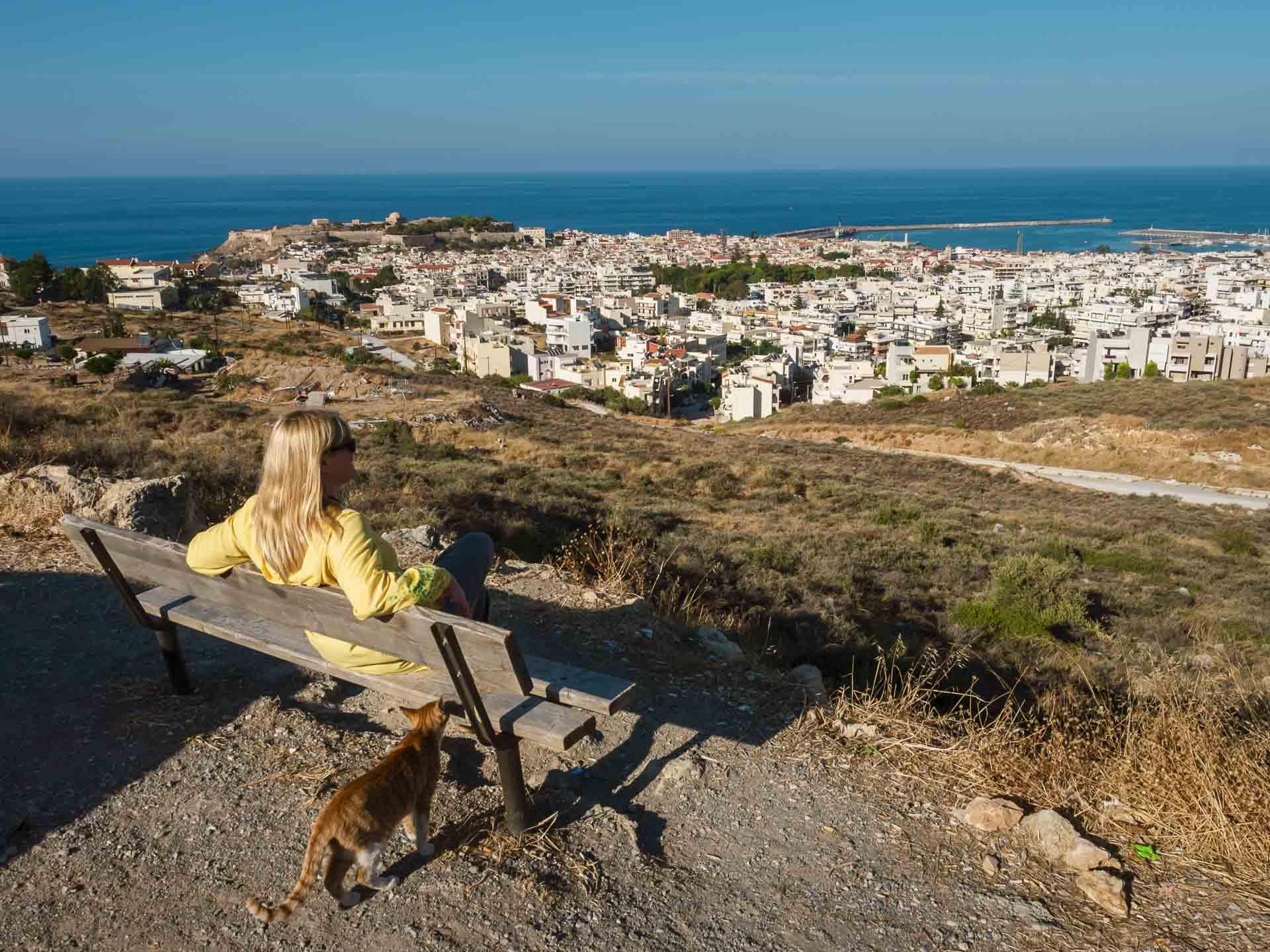 deb overlooking crete