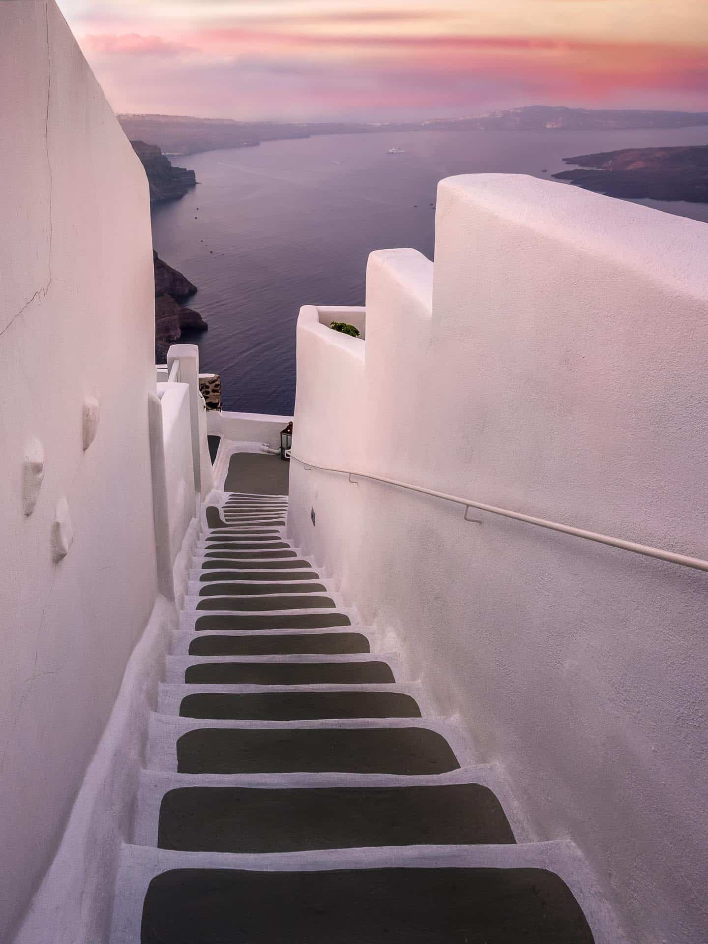 whitewashed steps of santorini greece - places to visit in greece