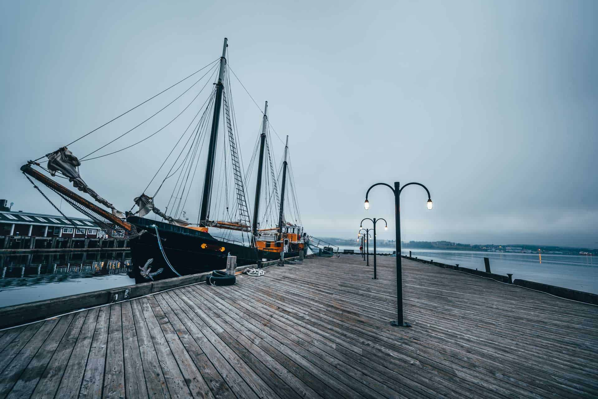 tall ship in halifax harbour