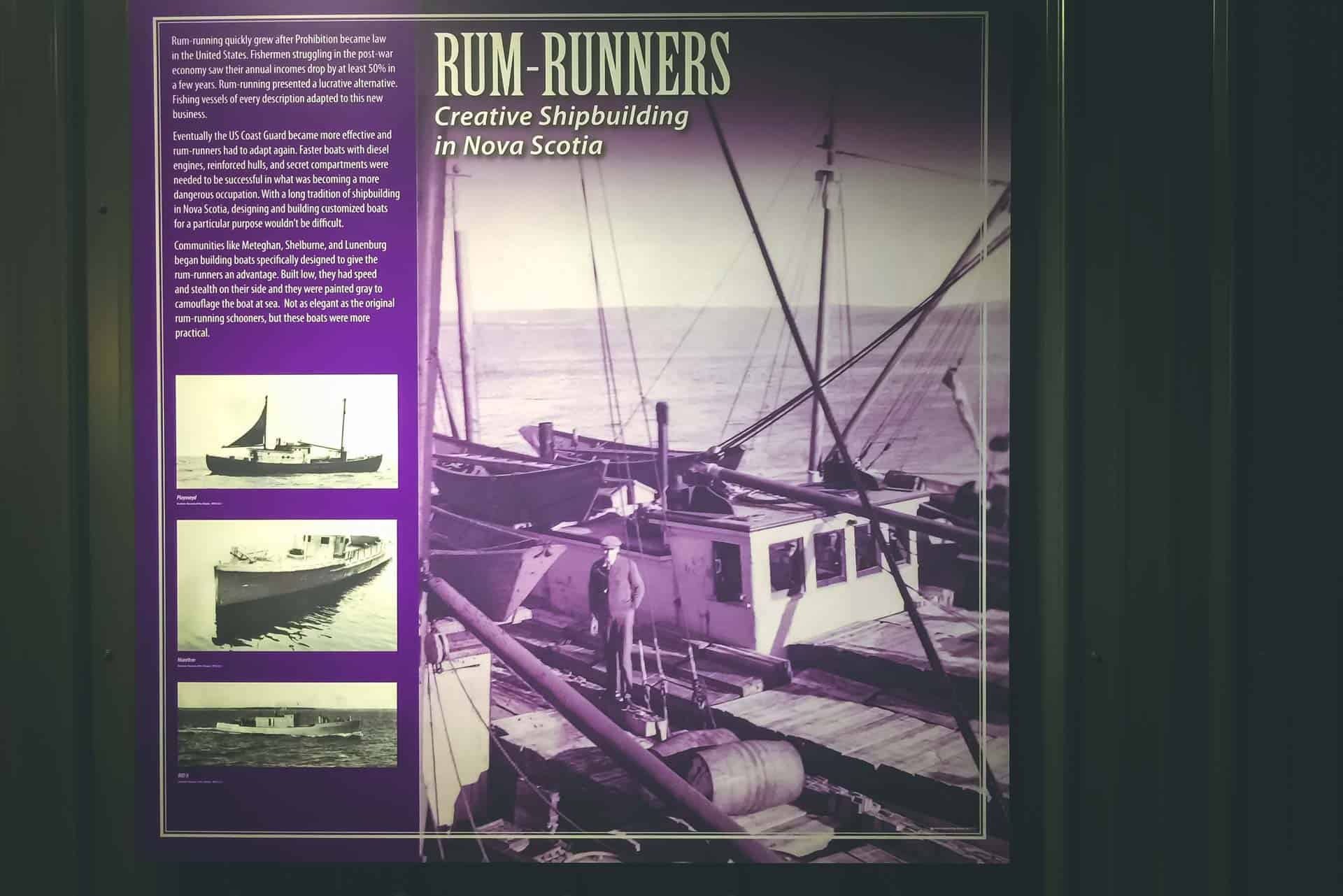 historic halifax sign rum-runners