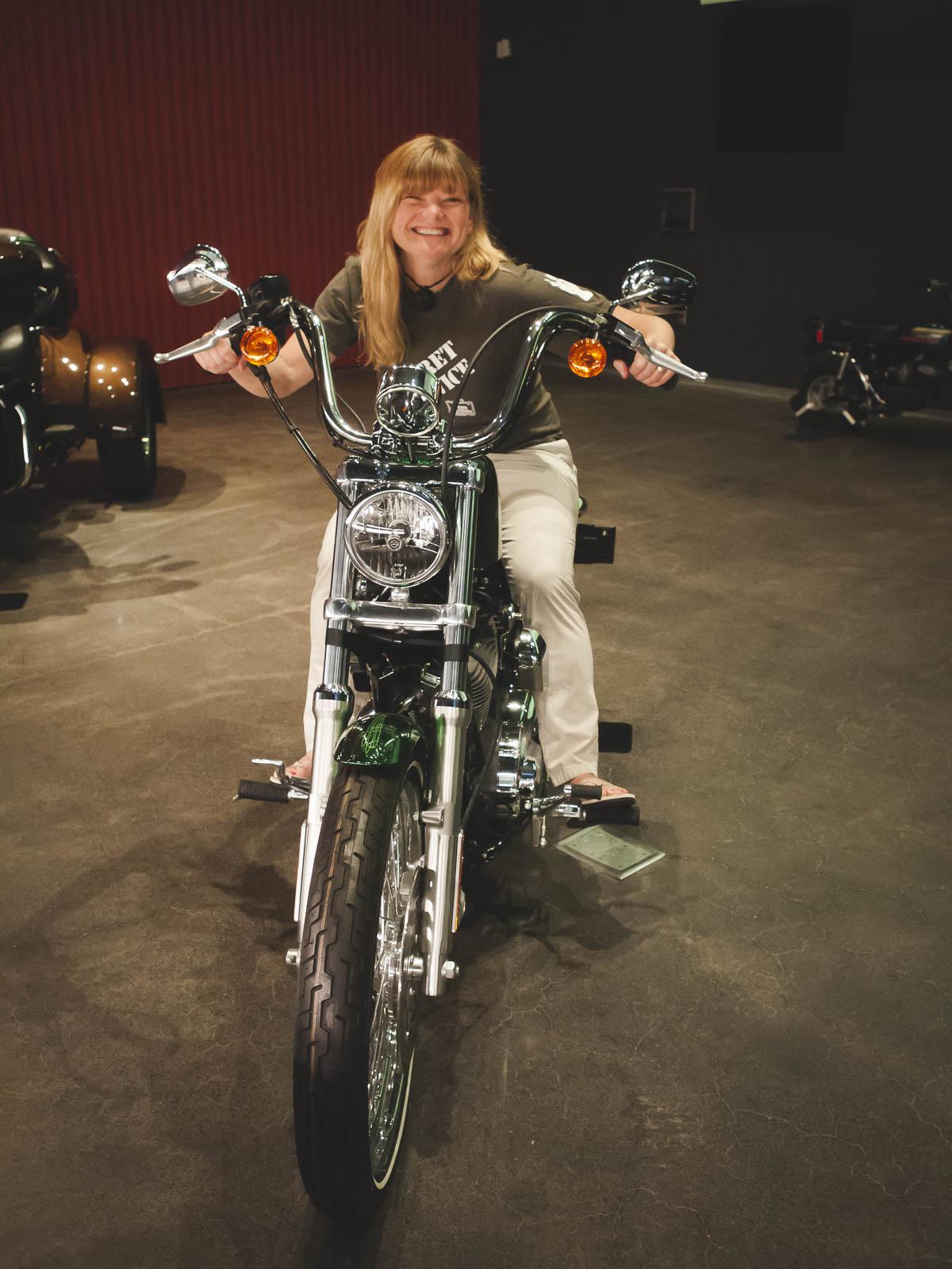 Interactive displays Harley Davidson Museum in Milwaukee