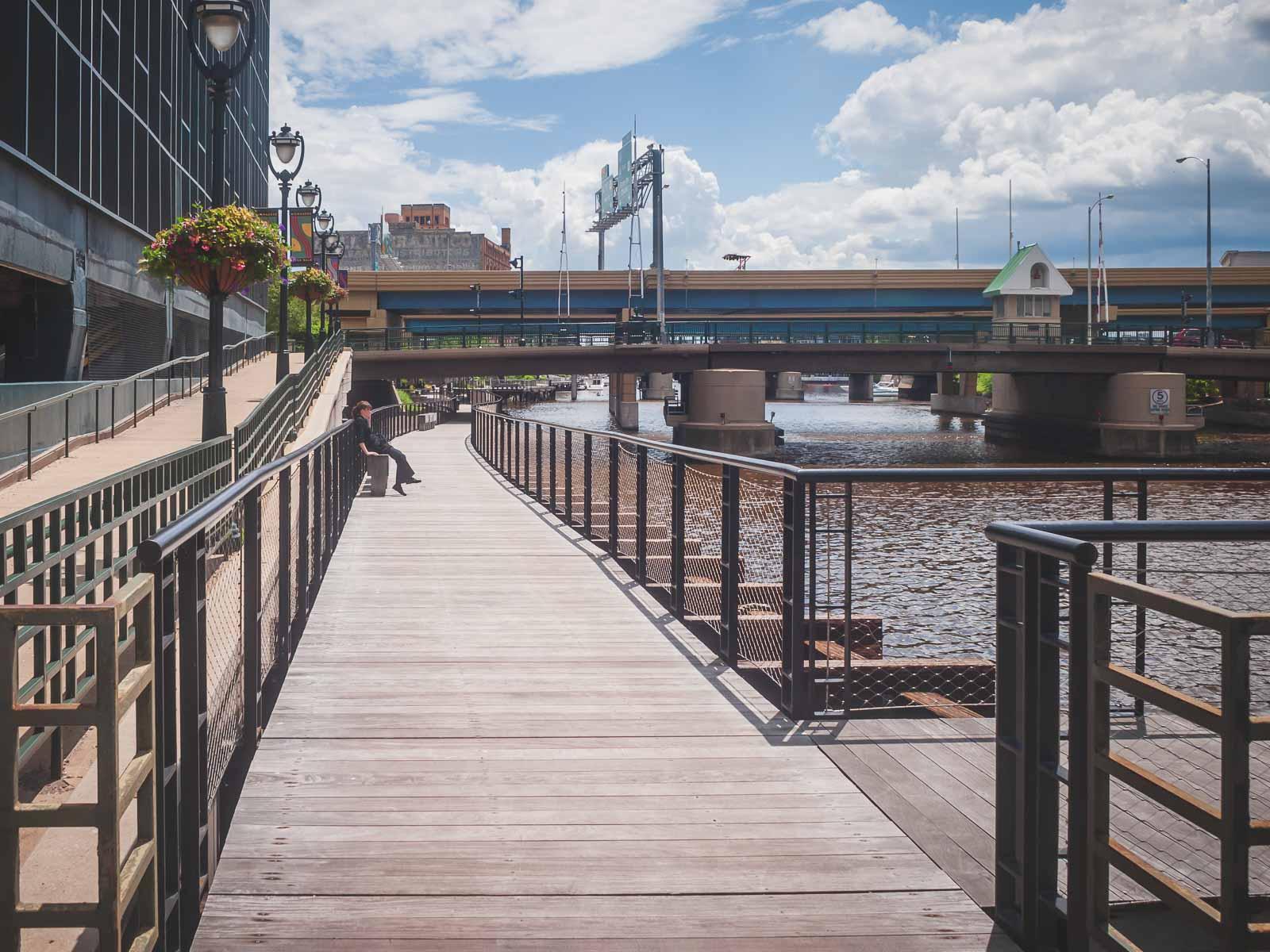 Riverfront Walk in Milwaukee
