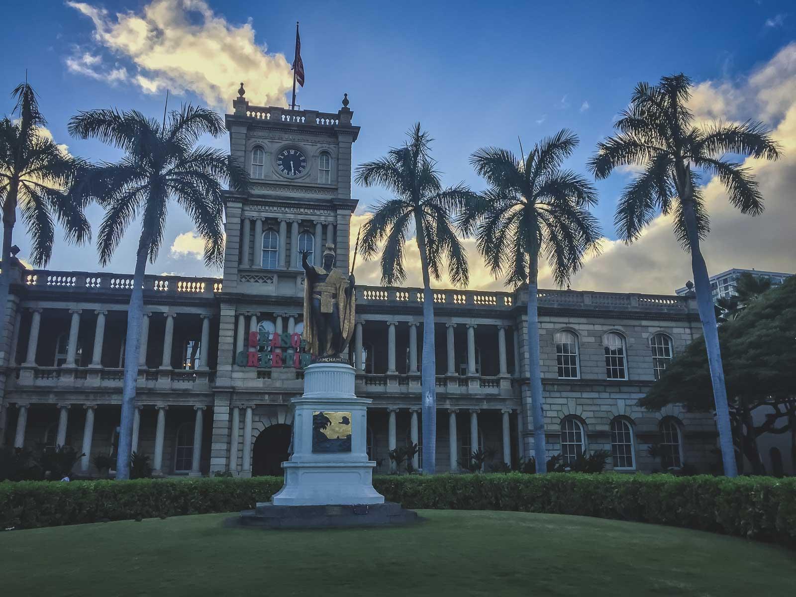 Iolani Palace in Oahu