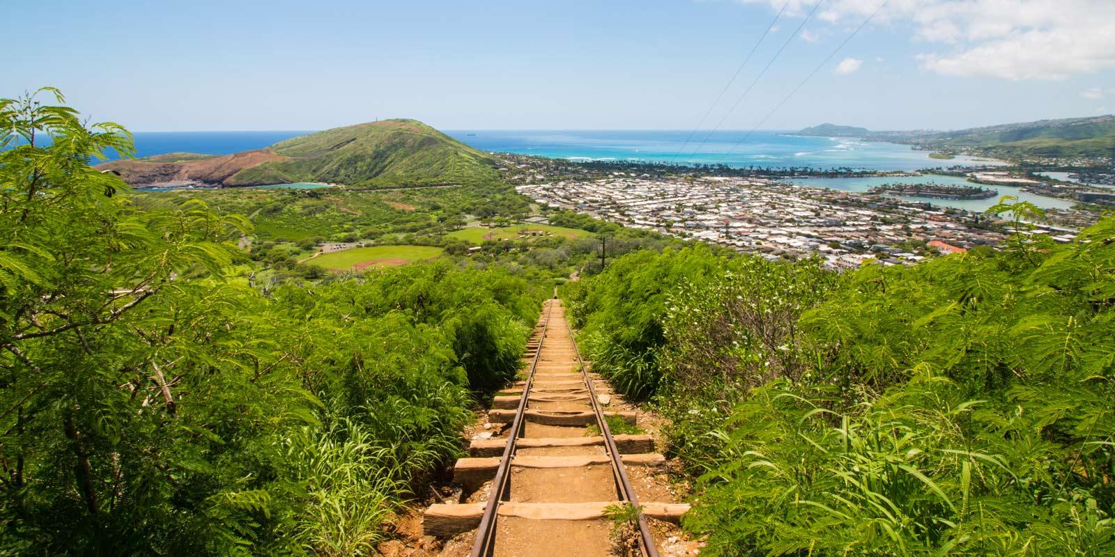 Climb the Koko head trail in Oahu
