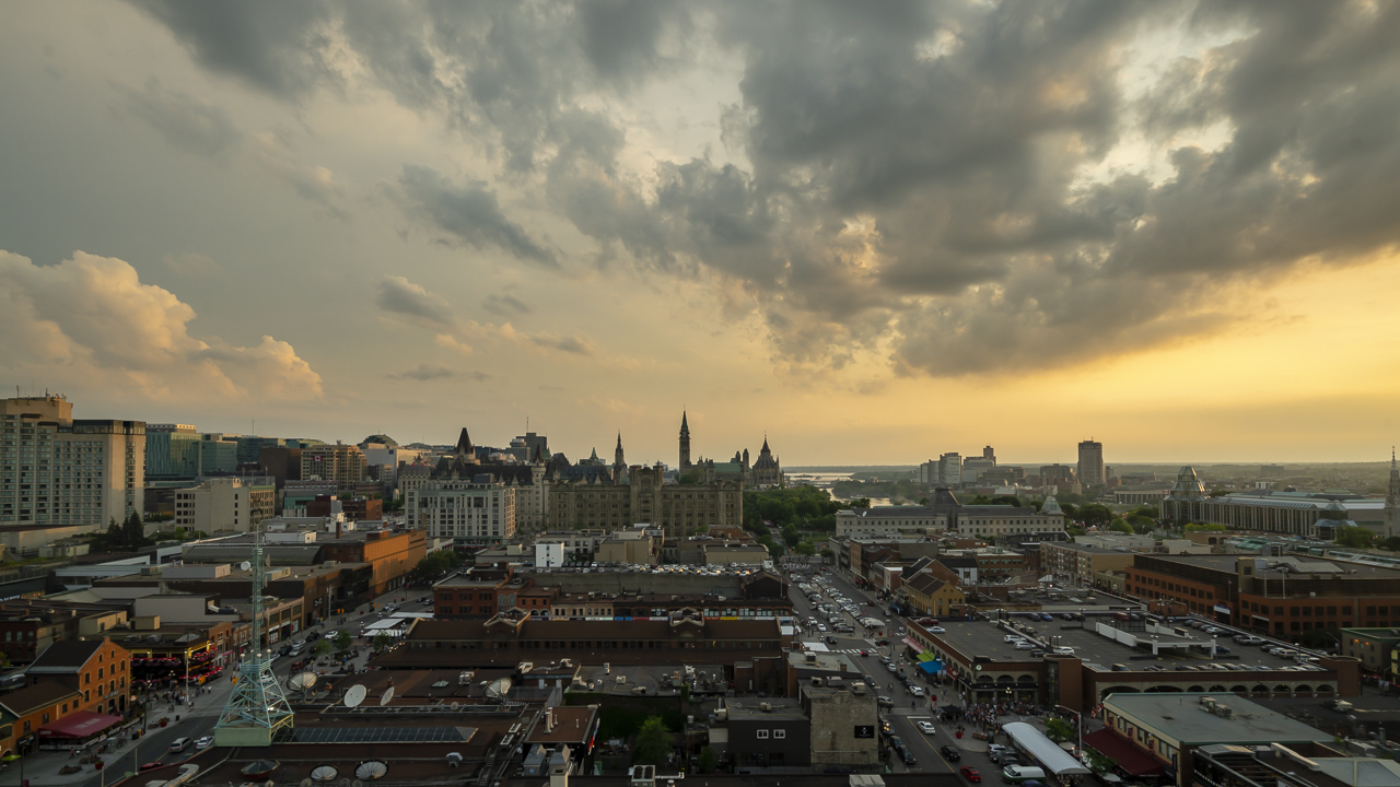 Sunset from the Andaz Hotel is one of the things you must see in Ottawa