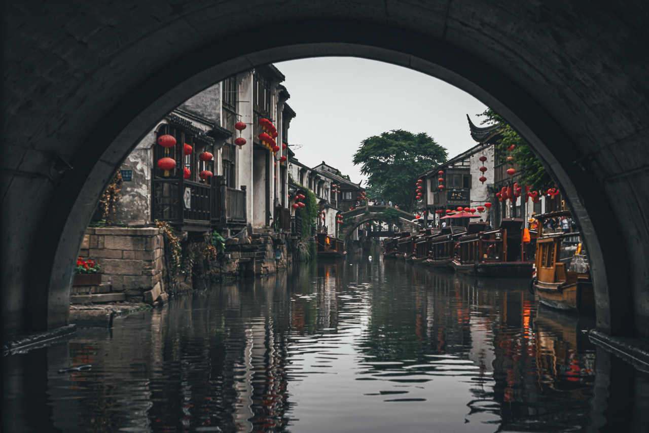 Shantang street along the canal in Suzhou