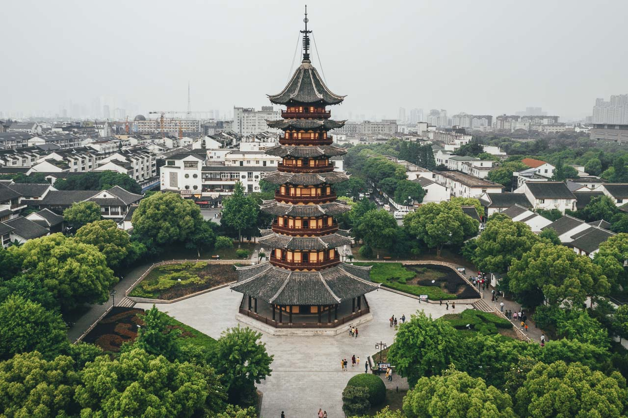 The Panmen Gardens in Suzhou, China