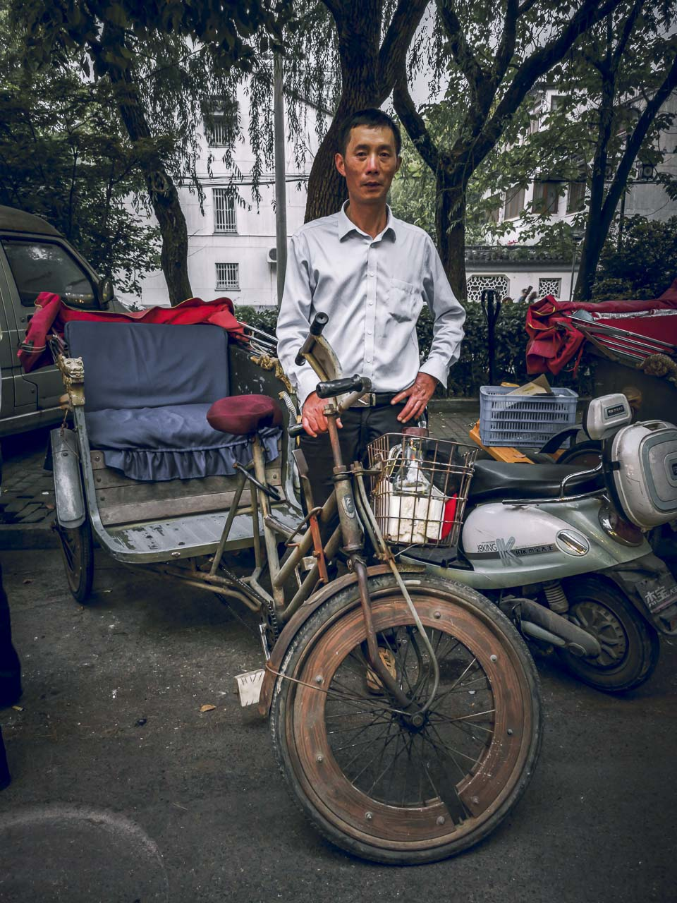 Our Rickshaw driver in china