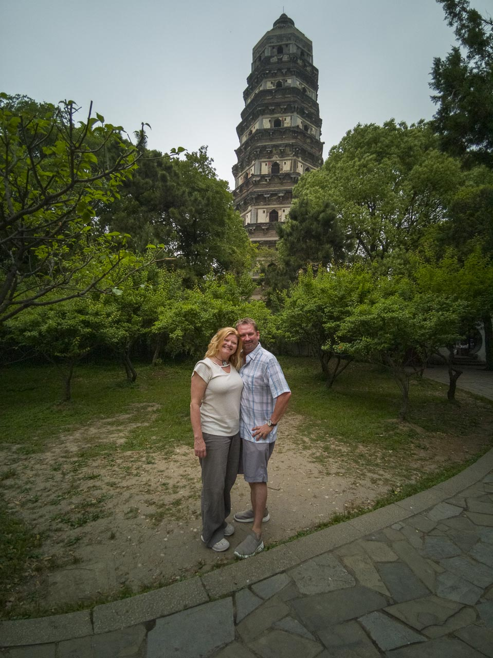 Dave and Deb at the Tiger Hill in Suzhou China