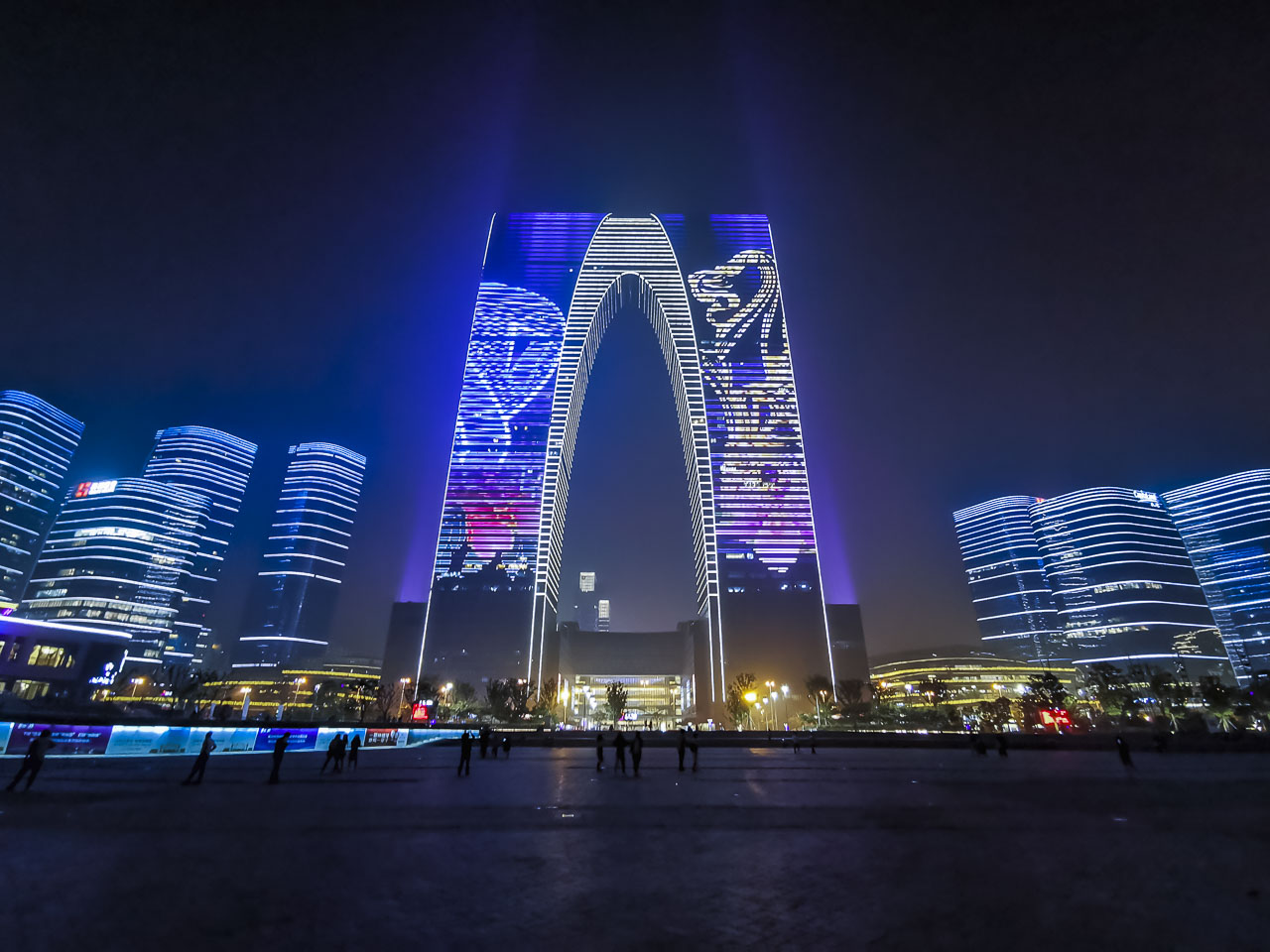 The Suzhou Waterfront at night