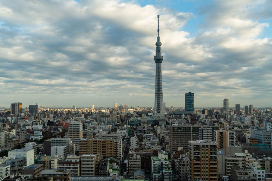 view of tokyo skytree from tobu levant