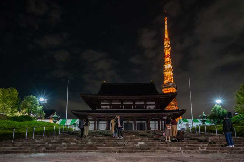 visit Shiba Park at night