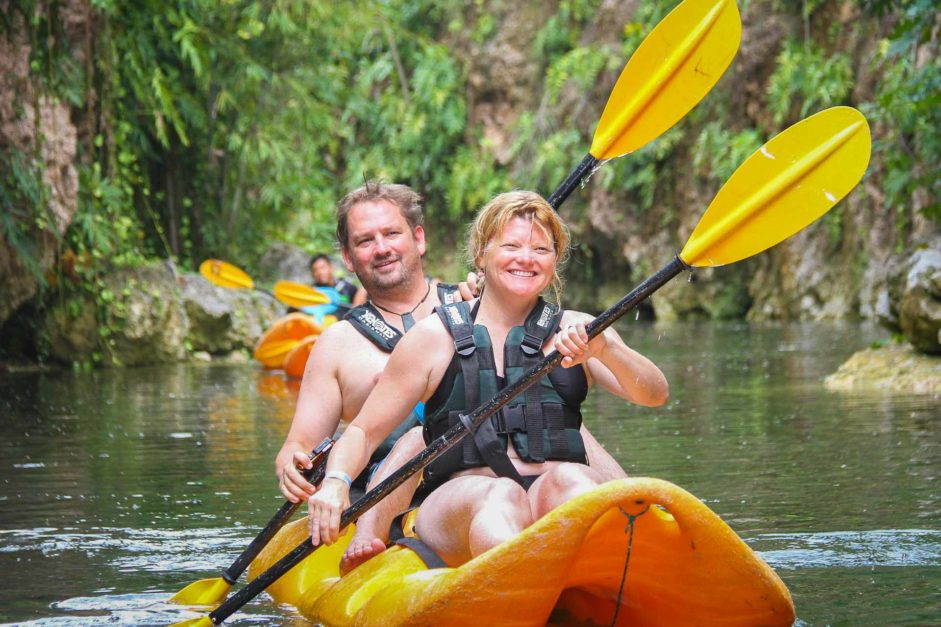 kayaking at adventure theme park cancun