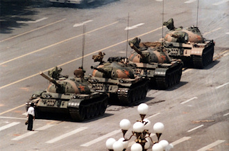 man at tiananmen square