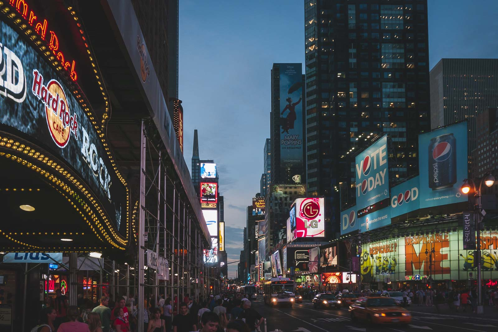 Midnight Moment in Times Square