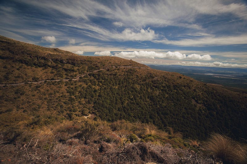 The End of the Tongariro Alpine Crossing day hike