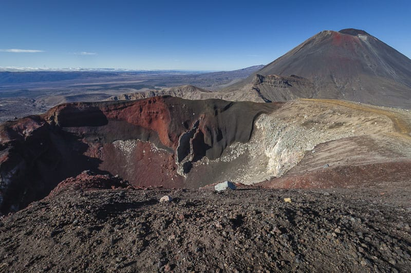 The Red Crater on the Tongariro Alpine Crossing