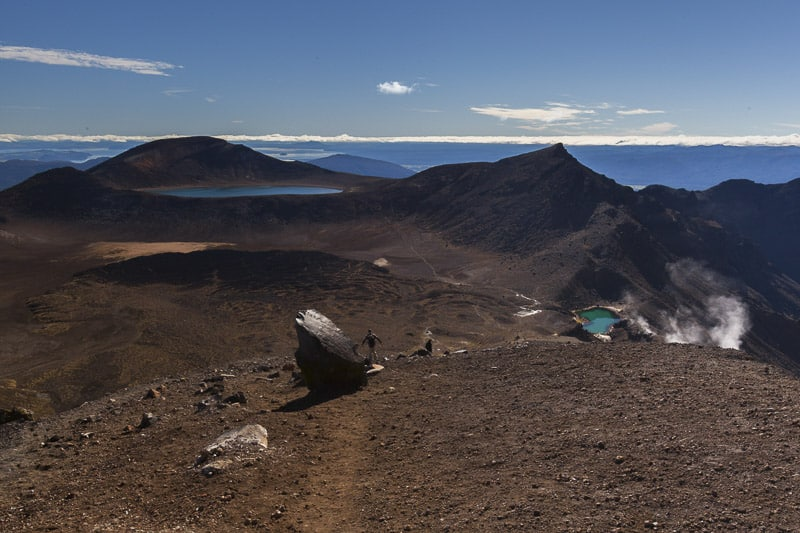 View from the Red Crater on the Tongariro Crossing