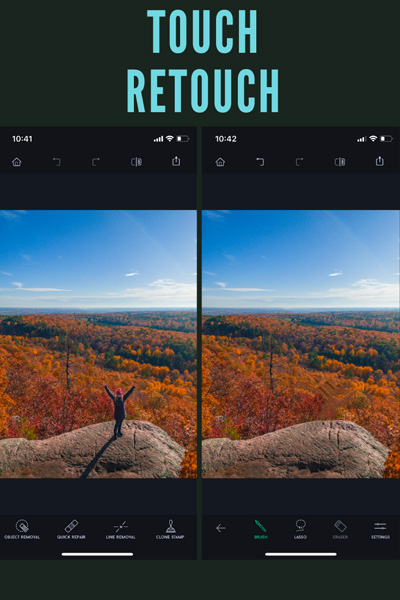 ios app Touch ReTouch