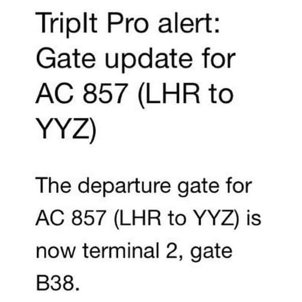 tripit alert
