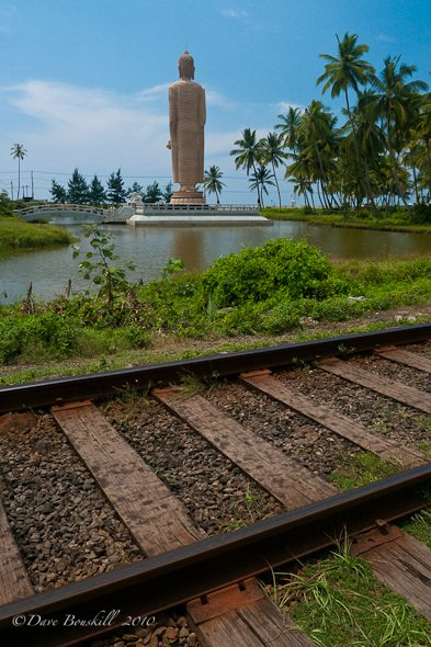 A monument to those who died on train in Tsunami.