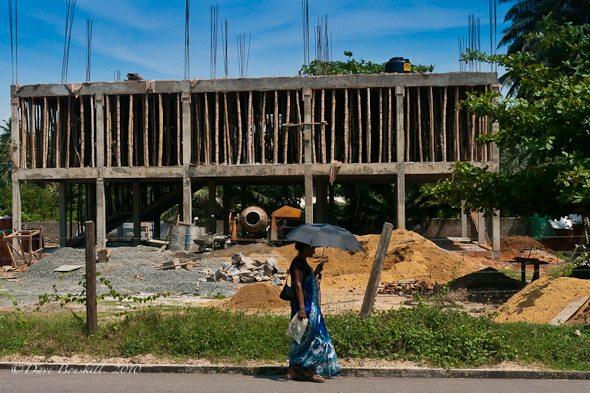 The rebuilding after tsunami.