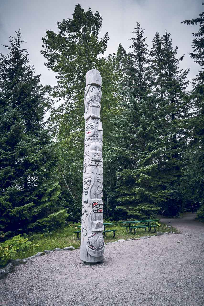 Tlinkit Healing Totem at Bartlett cove